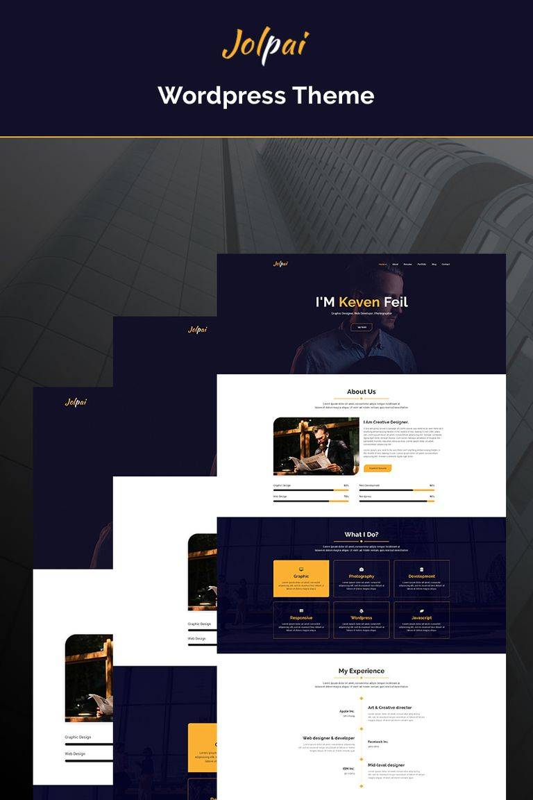 WordPress Portfolio Theme One Page