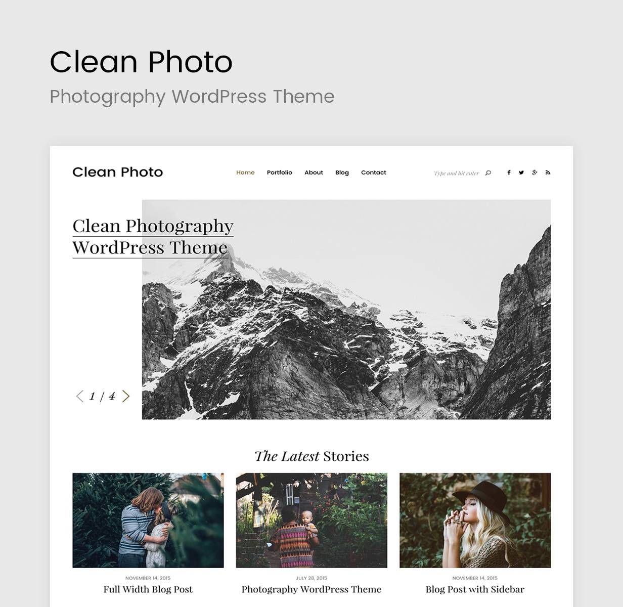 WordPress Portfolio Theme Photography