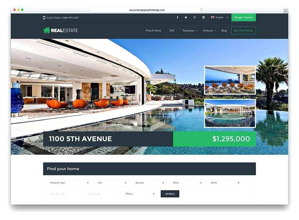 WordPress Real Estate Blog Templates