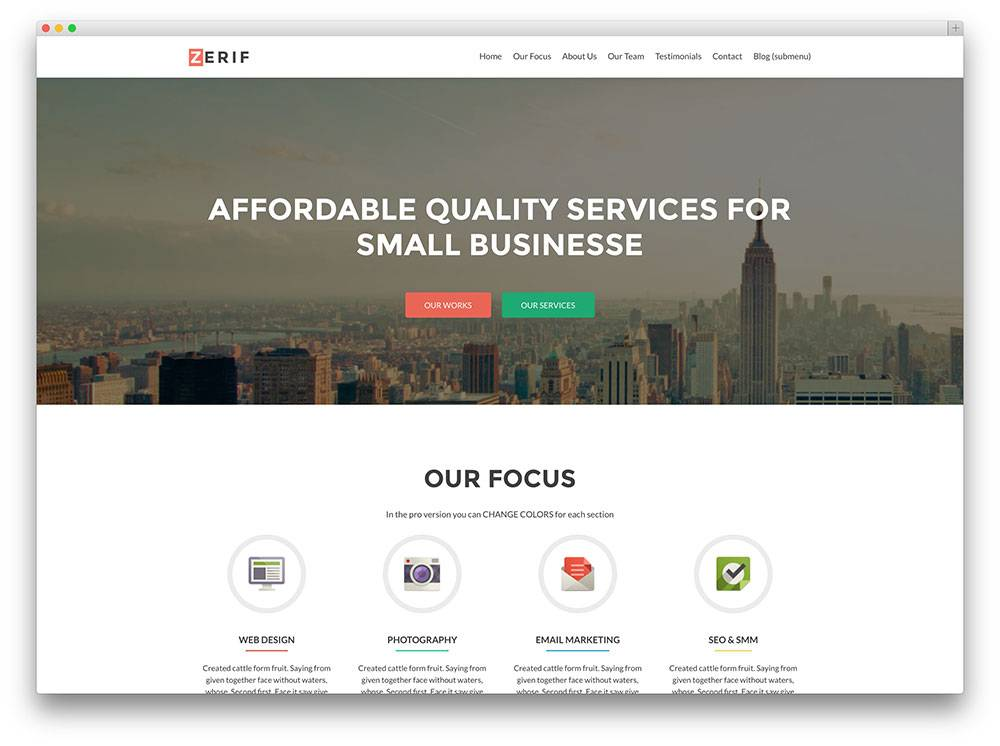 WordPress Responsive Website Templates