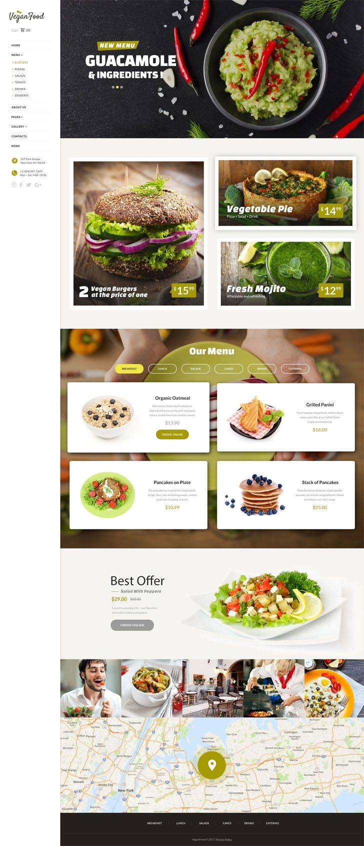WordPress Restaurant Template Free