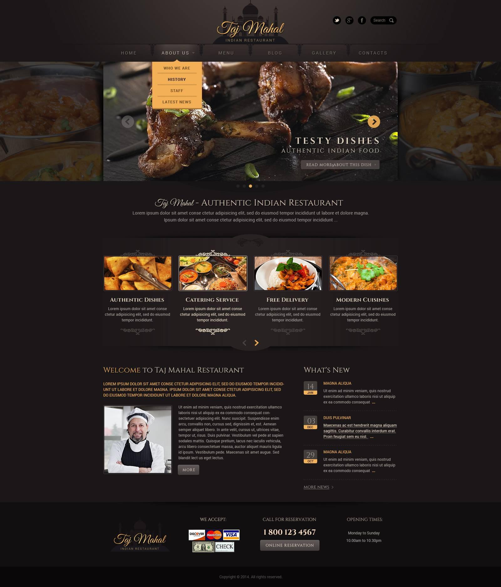 WordPress Restaurant Template