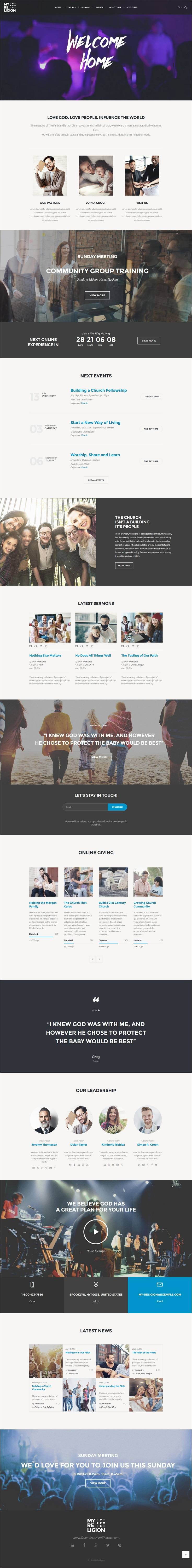 WordPress Template For Churches