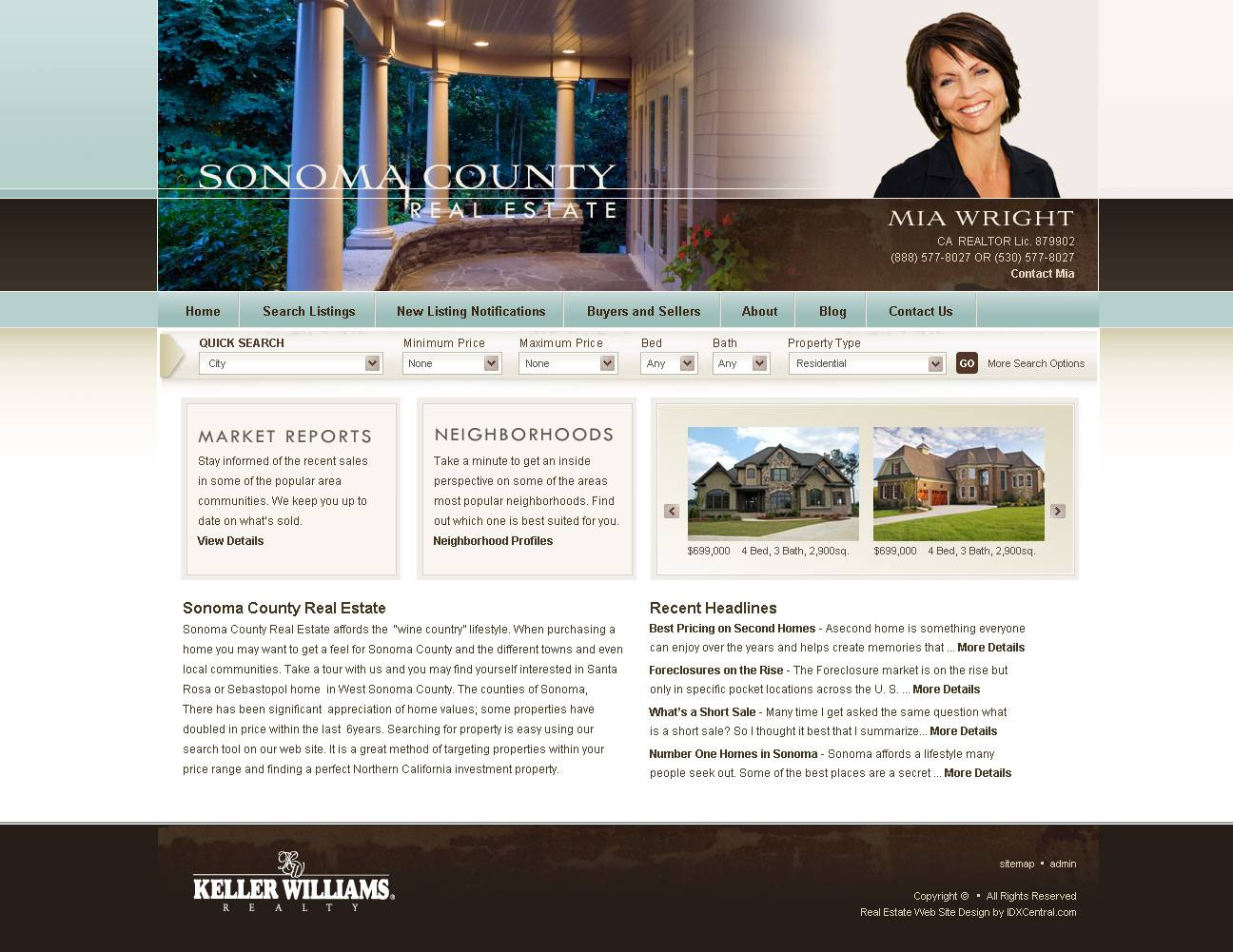 WordPress Template Real Estate Agent