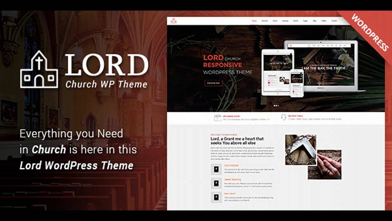 WordPress Templates Church Website