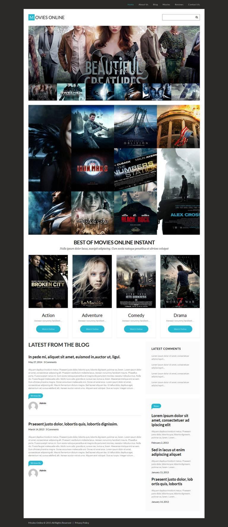 WordPress Templates Film Portfolio