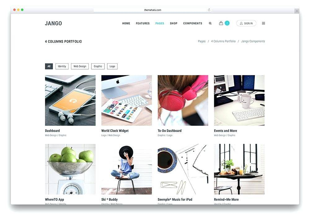 WordPress Templates For Artists Portfolio