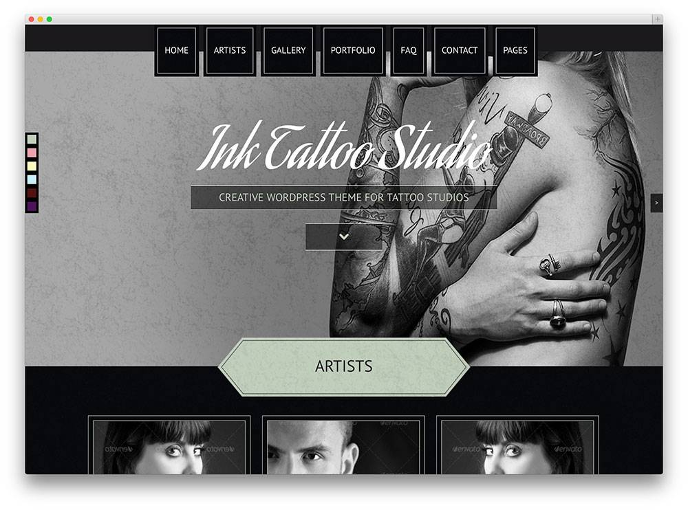 WordPress Templates For Visual Artists