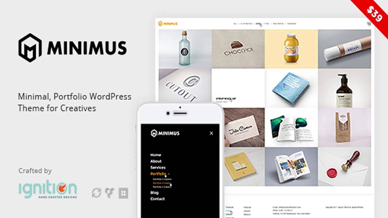 WordPress Templates Minimal Portfolio