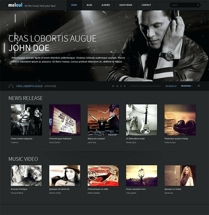 WordPress Templates Music Free
