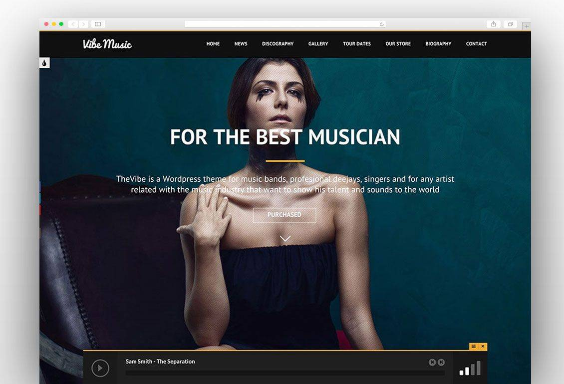WordPress Templates Music