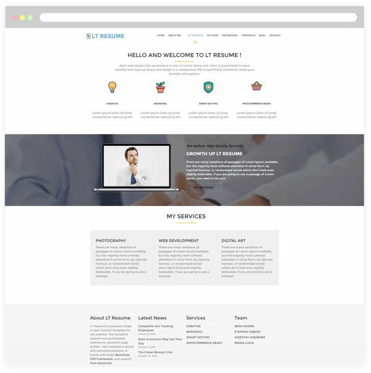 Wordpress Templates Portfolios