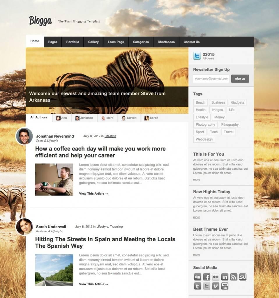 WordPress Templates Responsive Design