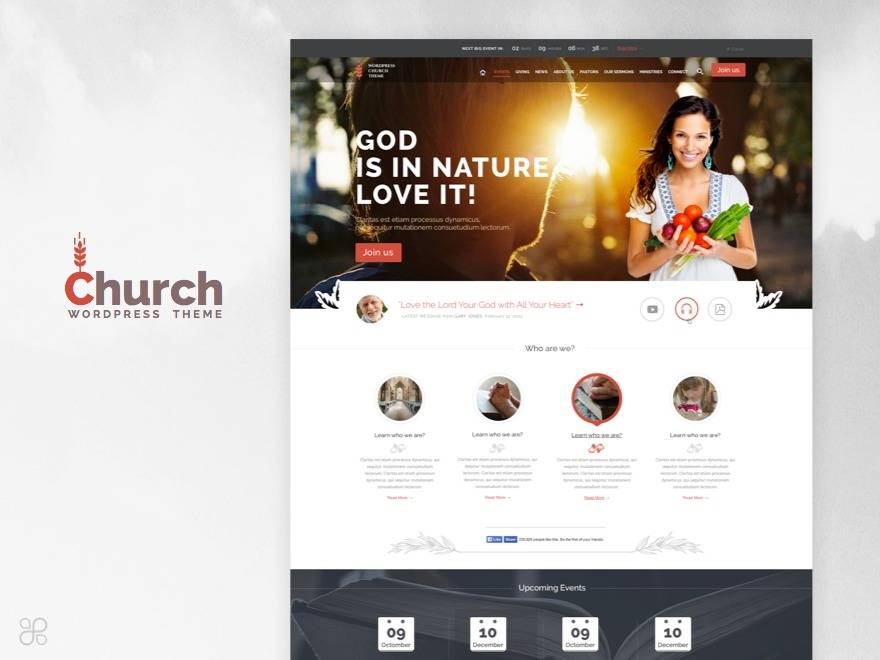 WordPress Theme Church Event