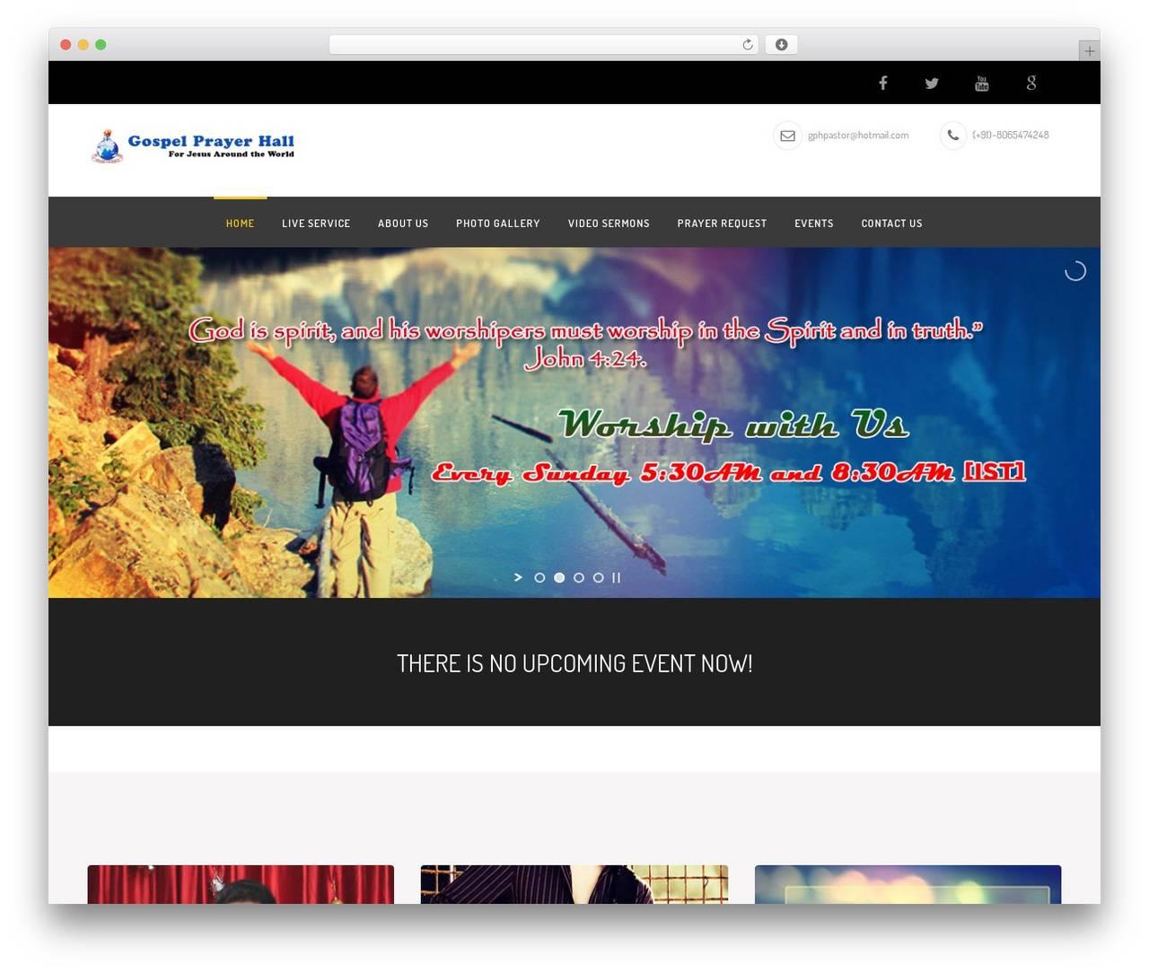 WordPress Theme Church Suite