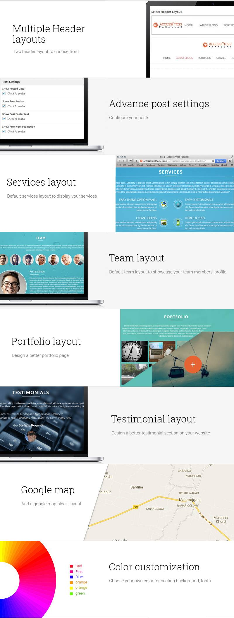 WordPress Theme Parallax One Page