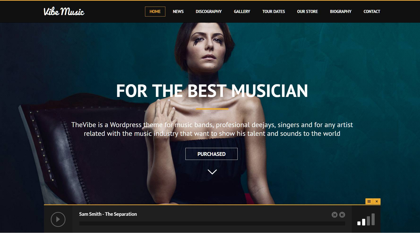 WordPress Themes Music Events