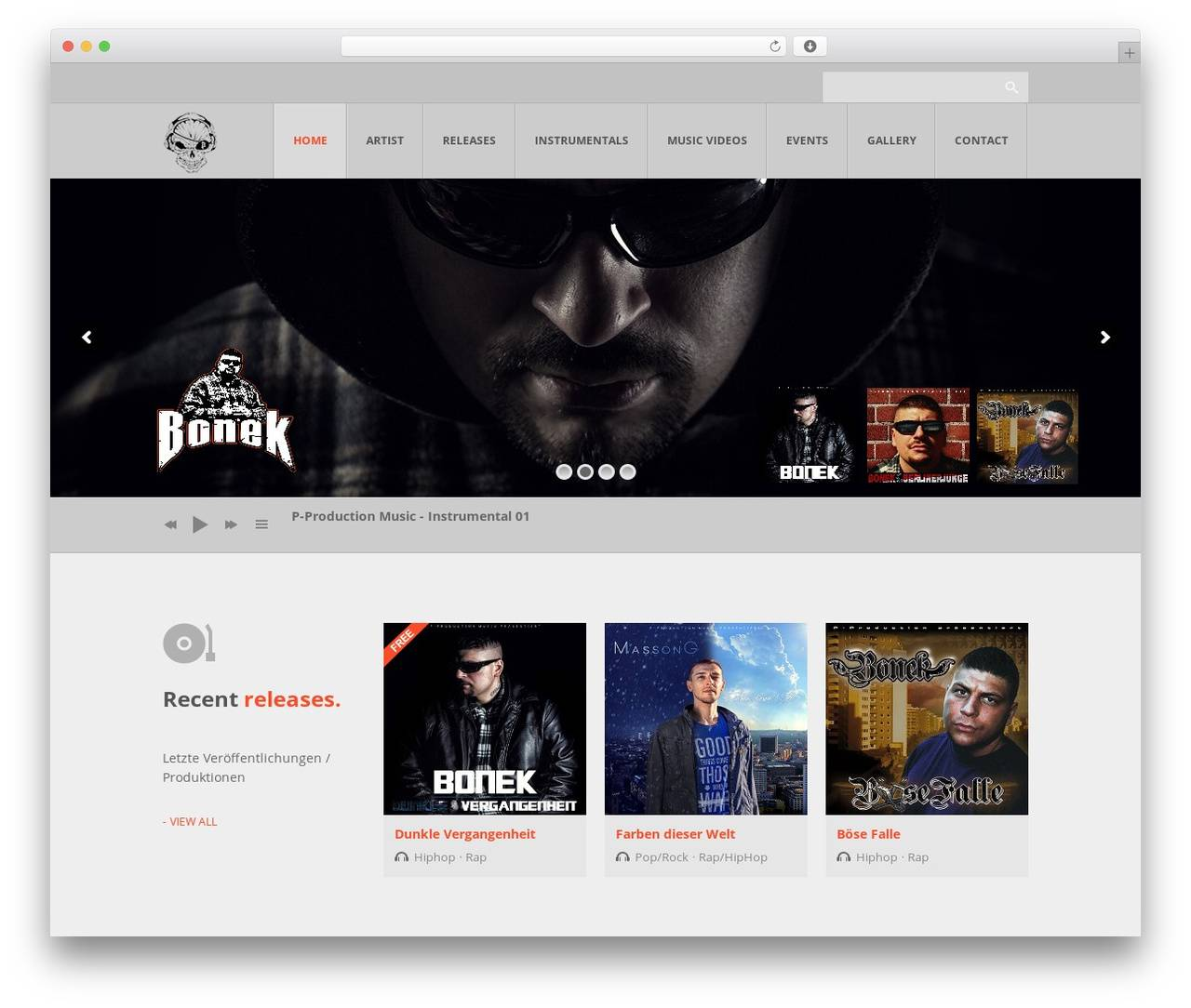 WordPress Themes Music Production