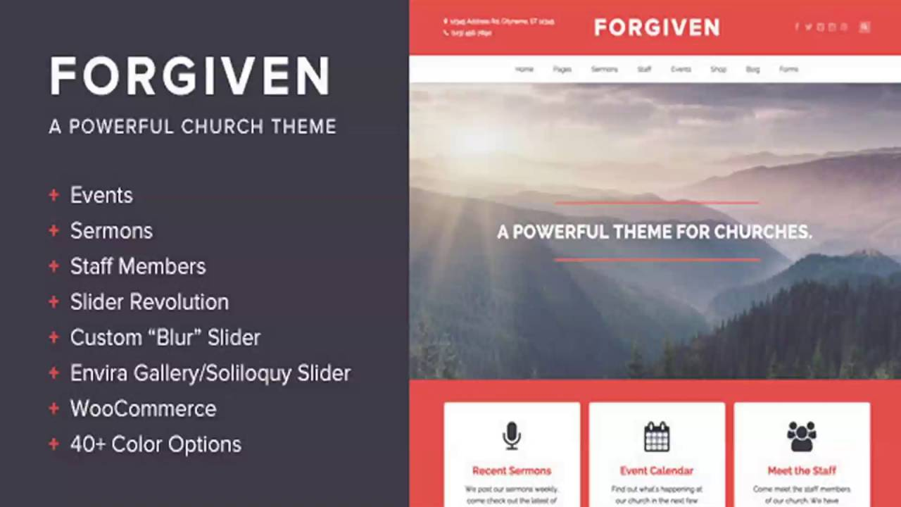 WordPress Website Templates For Churches
