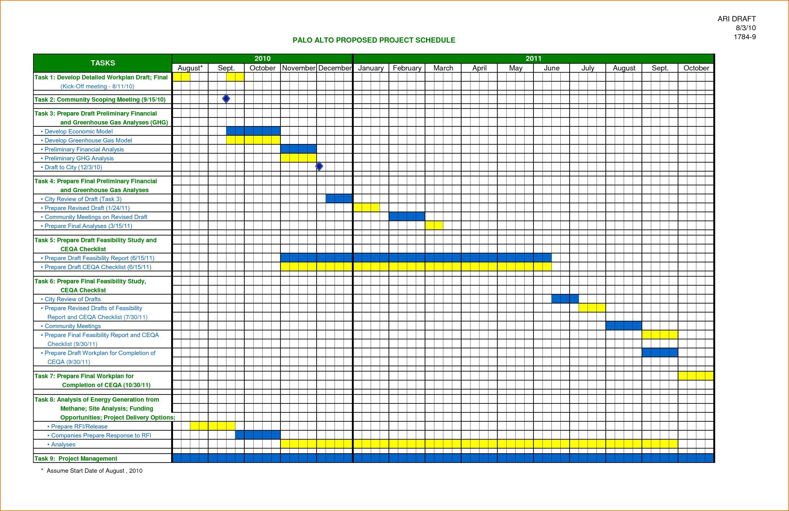 Work Planner Template Excel
