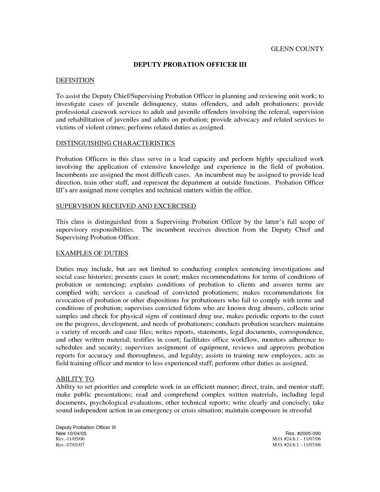 Work Probation Letter Template
