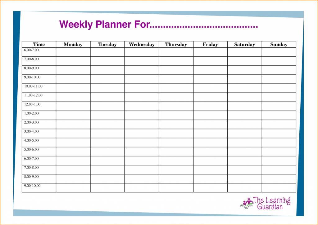 Work Schedule Grid Template