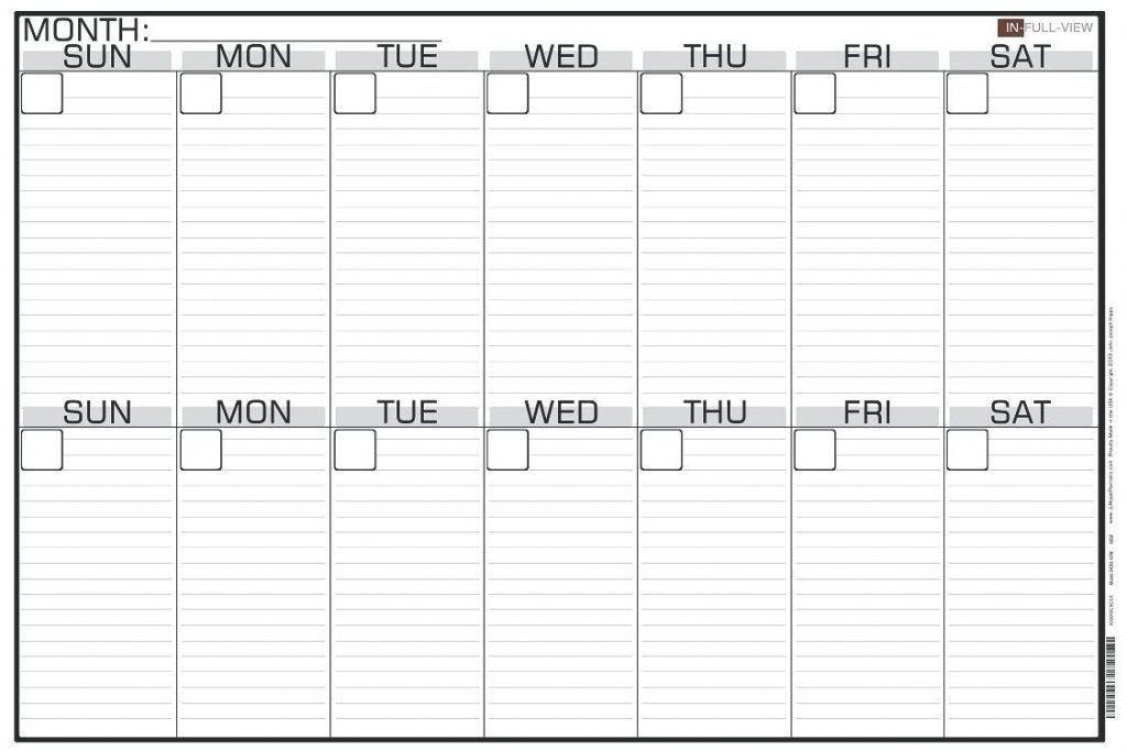 Work Week Calendar Template Word