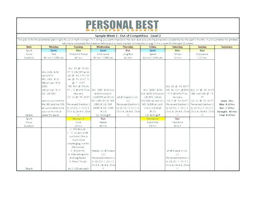 Workout Contract Template