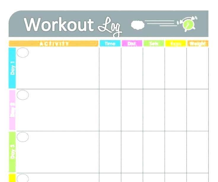 Workout Log Template Pdf