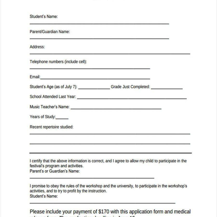 Workshop Registration Form Template Word Free