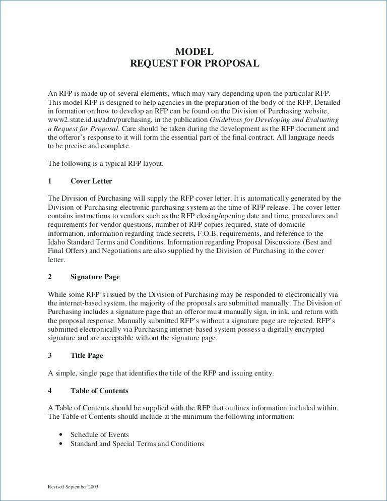 World Bank Rfp Template