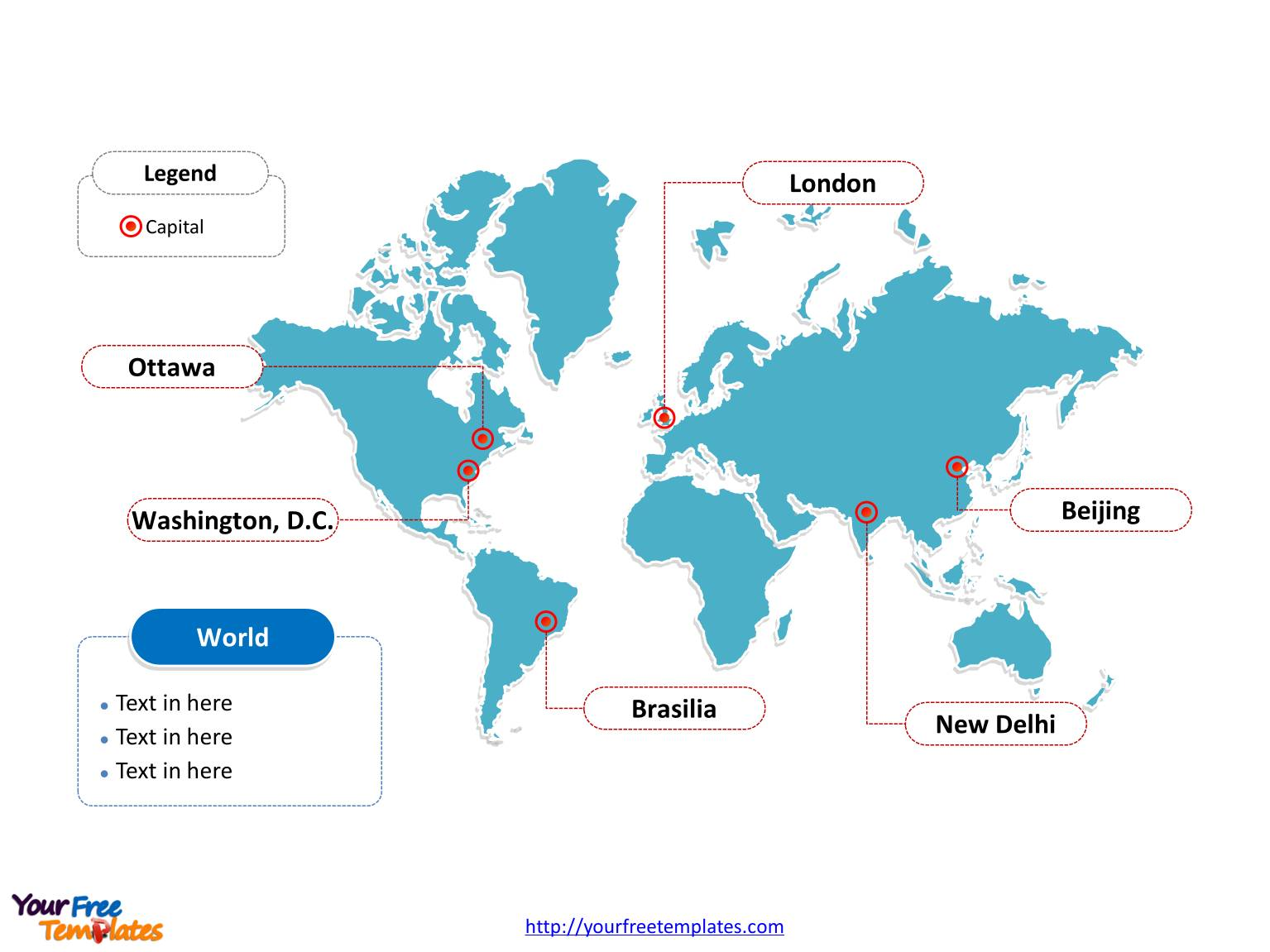 World Map Powerpoint Templates Free