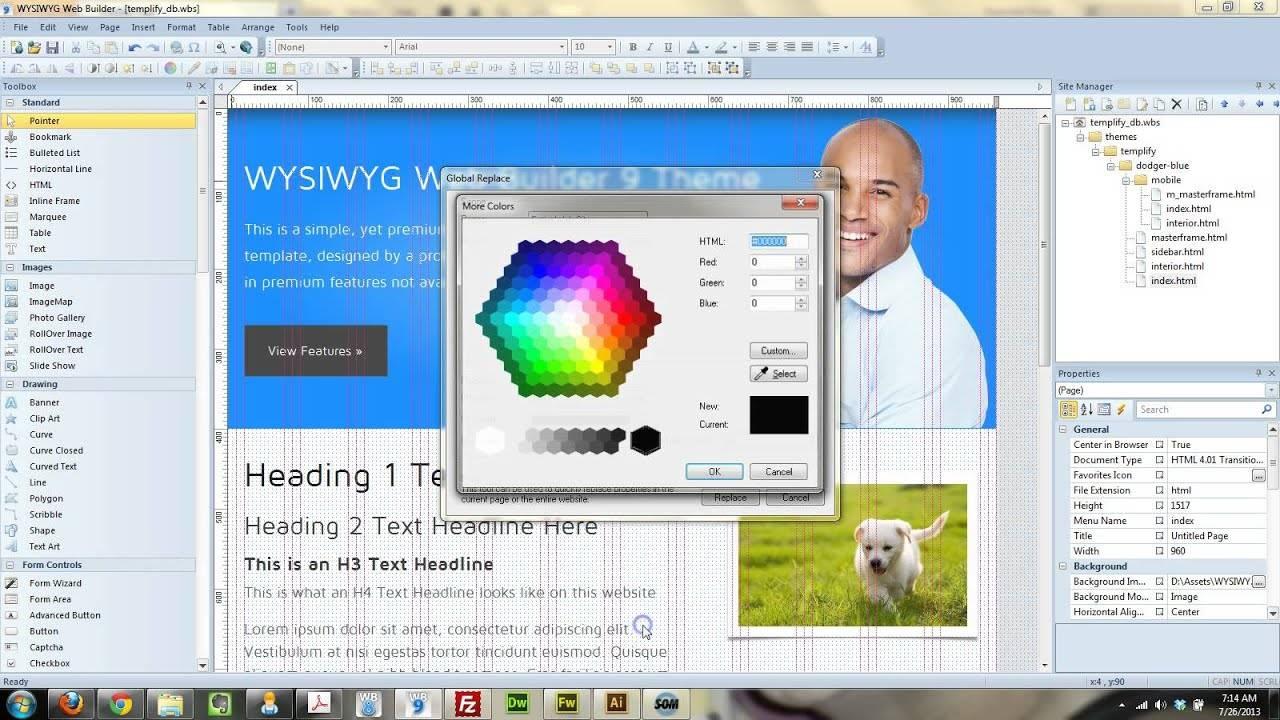 Wysiwyg Web Builder 9 Templates Free Download