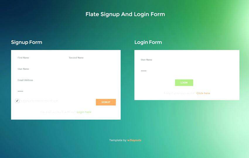 Wysiwyg Web Builder Login Template