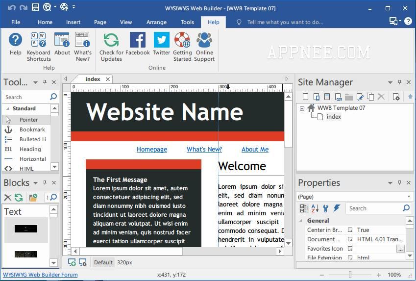 Wysiwyg Web Builder Templates Free