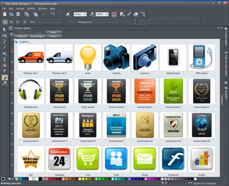 Xara Web Designer Premium Templates