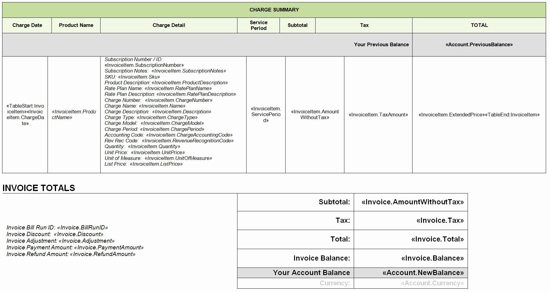 Xml Invoice Template