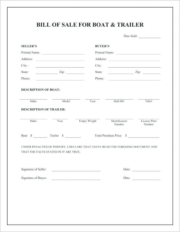 Yacht Purchase And Sale Agreement Template