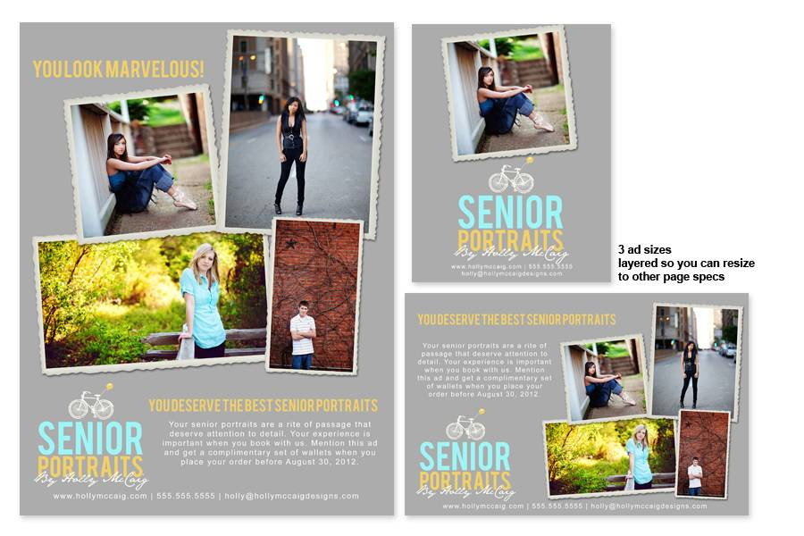 Yearbook Ad Template