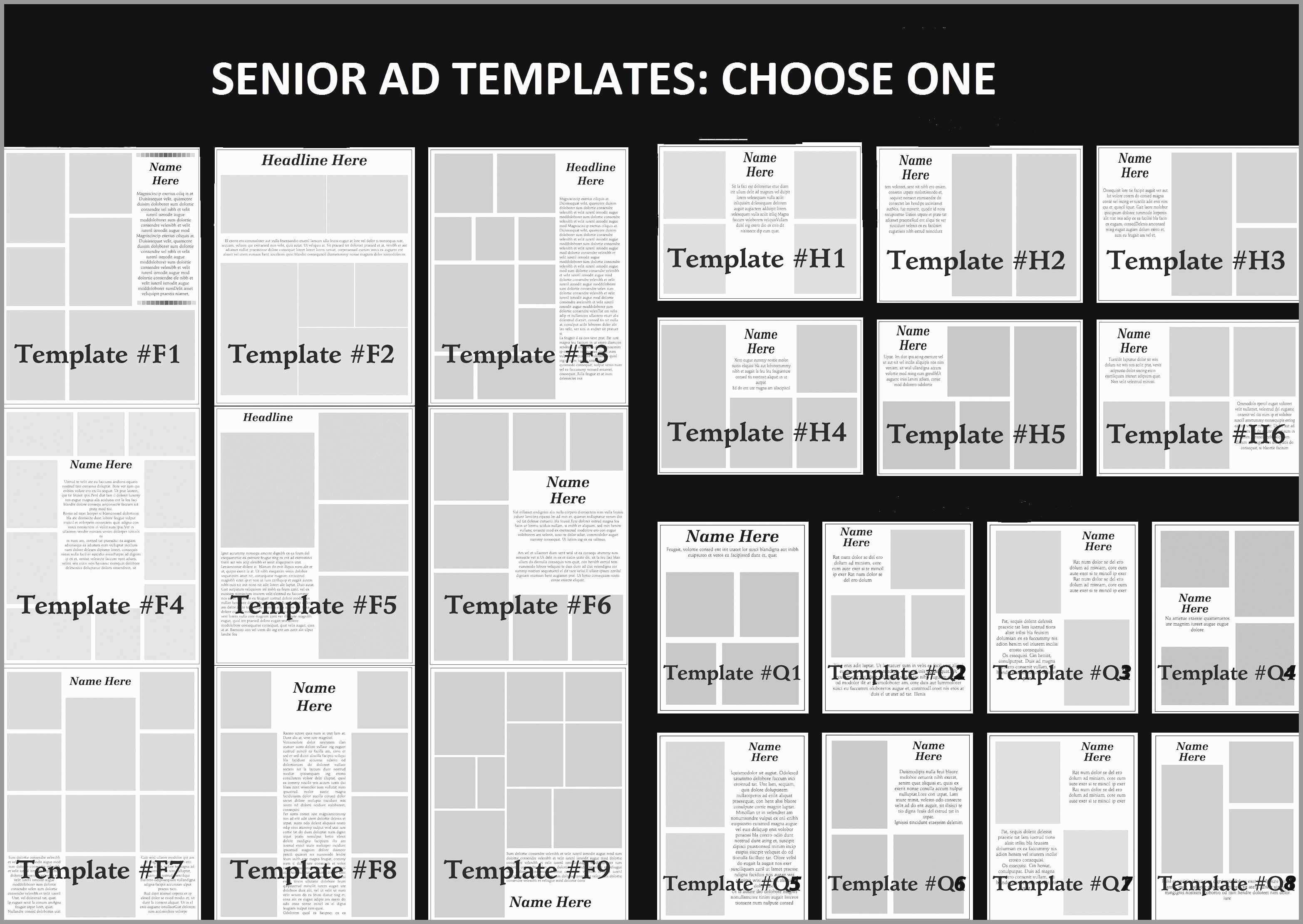 Yearbook Layout Templates Photoshop