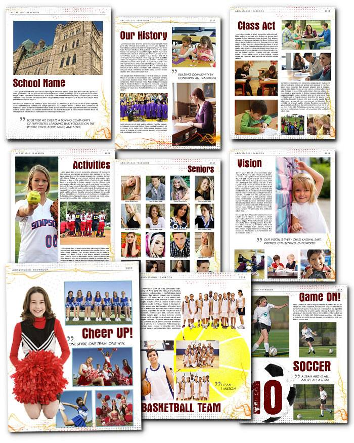 Yearbook Template Adobe