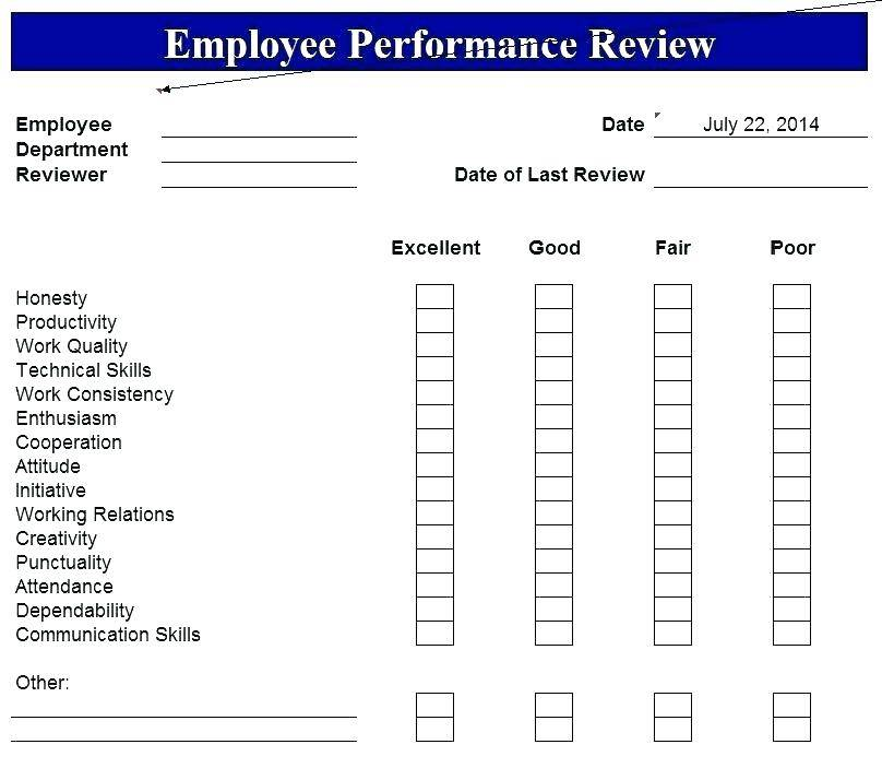 Yearly Employee Review Template