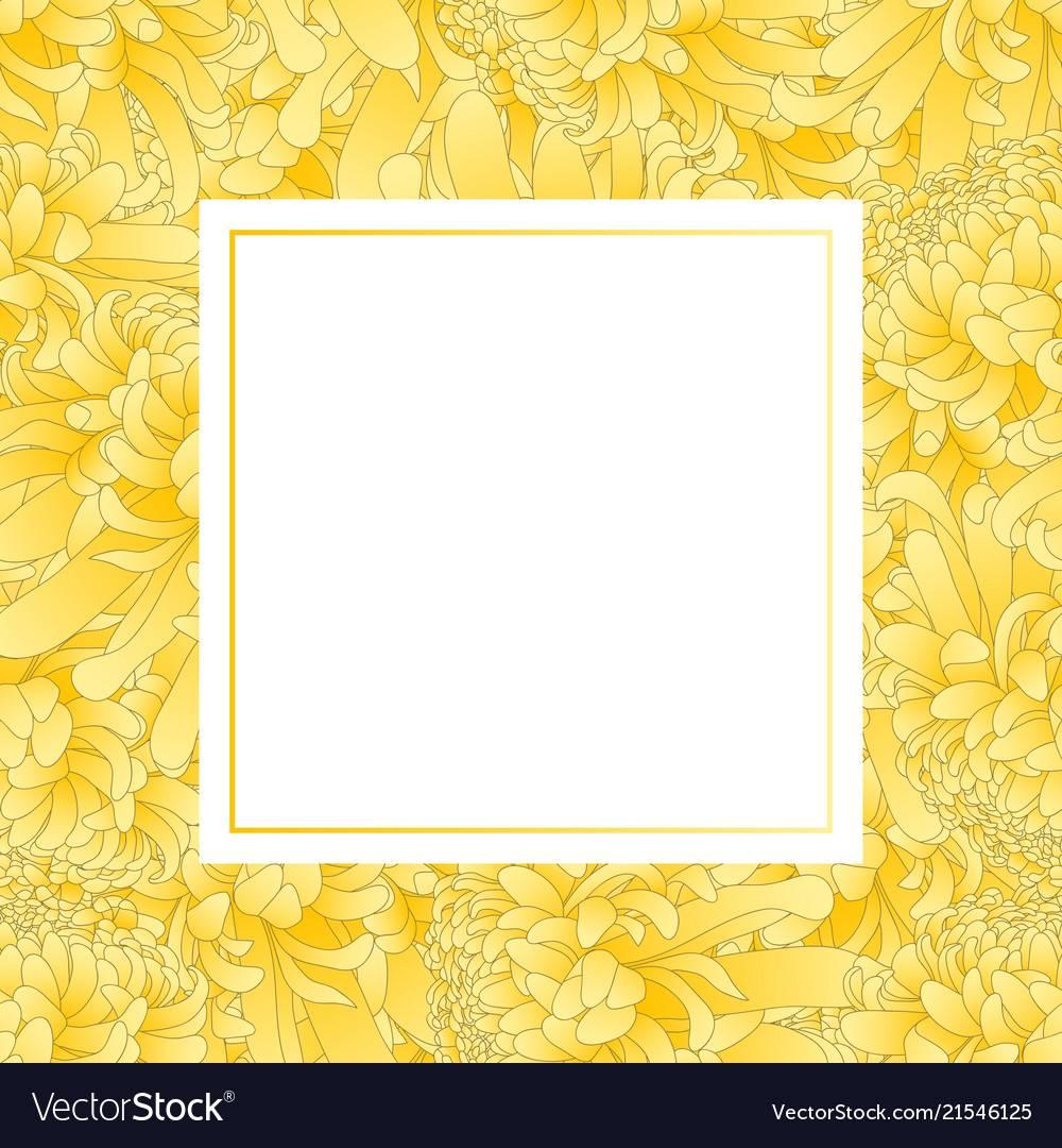 Yellow Flower Invitation Template