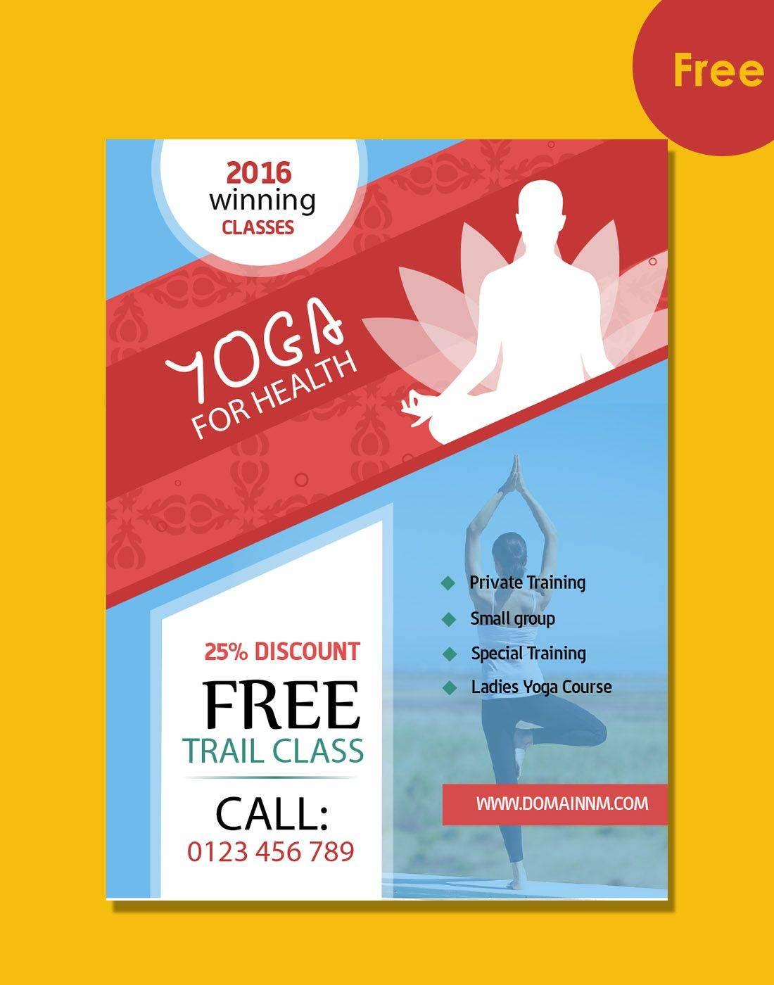 Yoga Brochure Templates Free