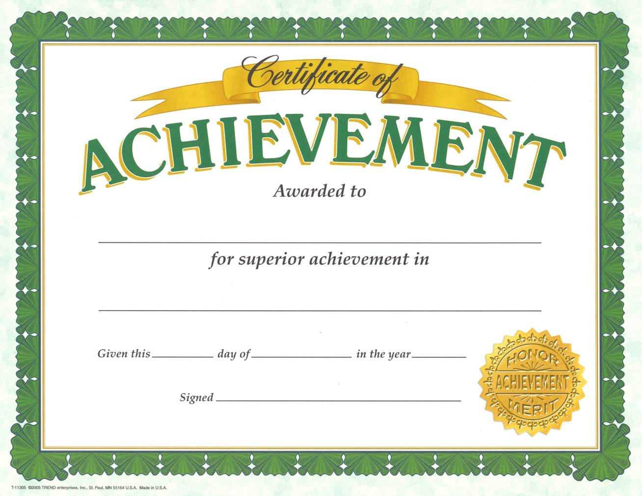 Youth Achievement Awards Templates