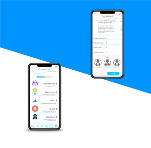 Profile and Connections app screens