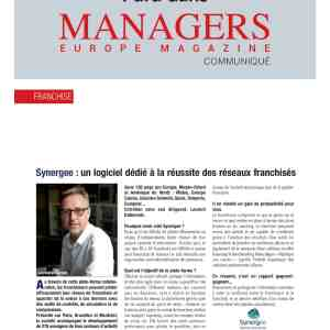 Interview de Laurent Dubernais, CEO de Synergee, dans le magazine Managers Europe
