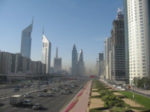 Smog in Dubai can be clearly seen