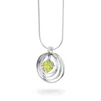 Synergy Necklace with green chakra love stone