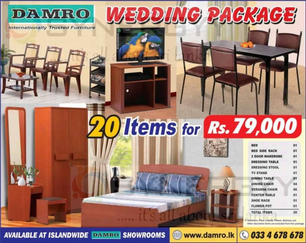 Damro Wedding Package For 20 Items Rs 79 000 00